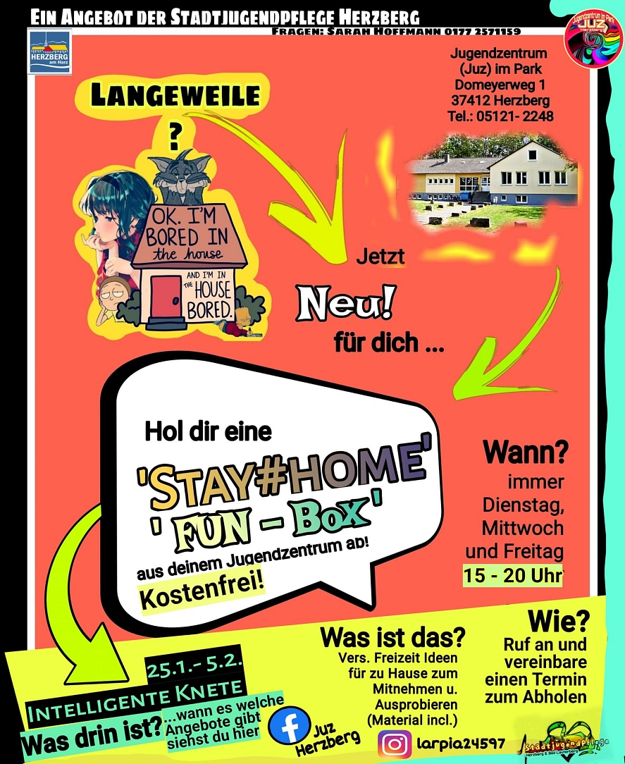 Stay'Home – Fun-Box © Jugendpflege Herzberg